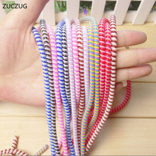 ZUCZUG 1 5M Cute Wire Rope Protection Suit Spring Cable Winder Data Line Protector For iPhone