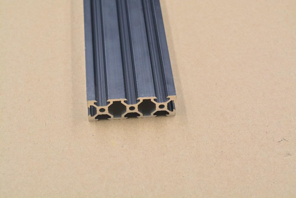 2060 aluminum extrusion profile european standard 2060 v slot black length 500mm aluminum profile workbench 1pcs