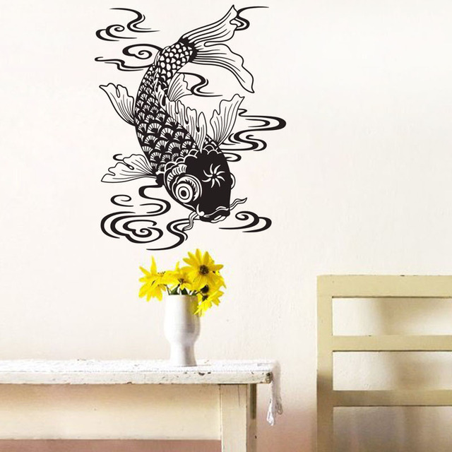 Carp Fish Wall Stickers Car Styling Decorative Vinyl Wall Decals ...
