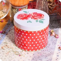 Free Shipping Chocolate Box Caddy Receive Tin Box Zakka Tea Caddy Tin Storage Tank Iron Box