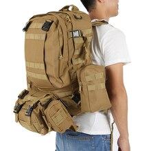 Na zewnątrz Wodoodporny Plecak 600D Nylon Army Military Tactical Napaść Molle Plecaki Torby Podróże Camping Survival 50L