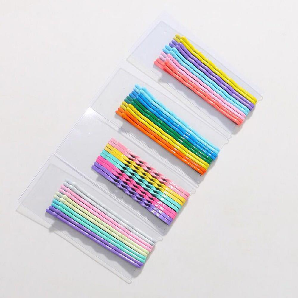 CN Hair Accessories 10pcs/set Hairpins for Women Clip Girls Colorful Hairpin Wave Invisible Barrettes