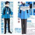 4 en 1 Unidades caliente trajes de cosplay de anime de yuri en ice Yuri Katsuki Traje de Deporte Conjunto Completo de Los Hombres de Lujo Abrigo de Trajes de Halloween