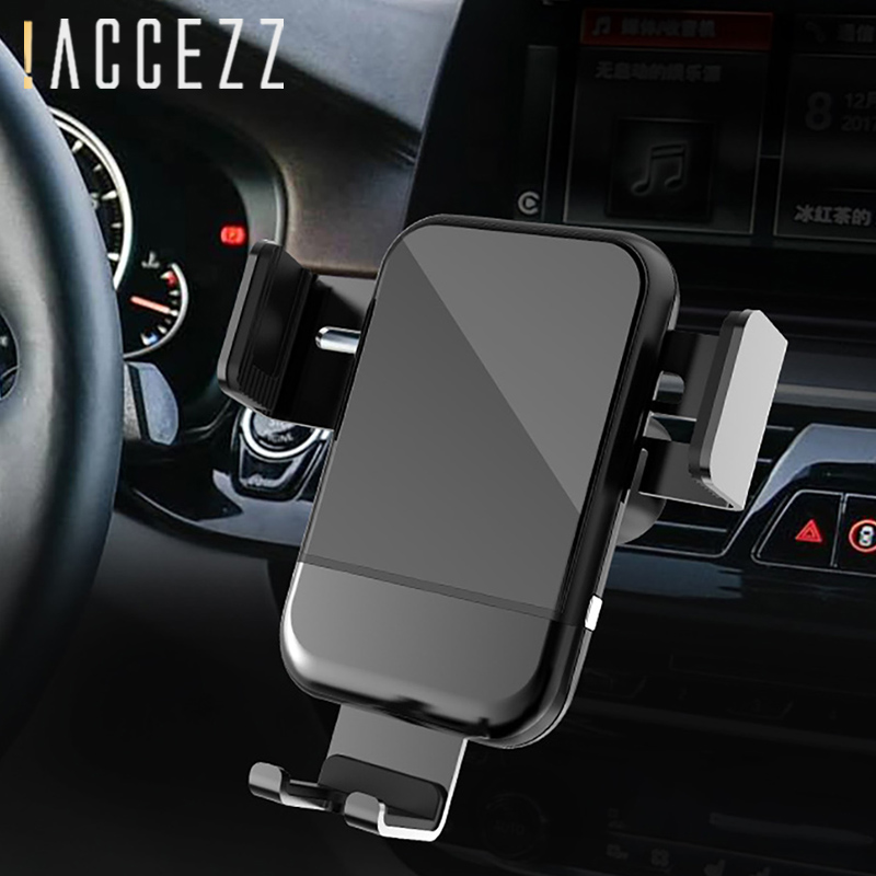 !ACCEZZ 2 in 1 Fast Charge Wireless 5W 10W Universal Charging For iPhone 8 X XS Xiaomi 7 Auto Air Vent Mount Stand Phone Holder