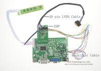 Free Shipping VGA LCD Controller Board For LP140WF3 LP140WF1 EDP 2 Lanes 30 Pins LCD 14