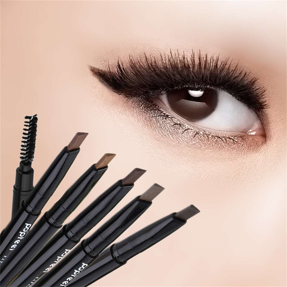 Waterproof Eyebrow Pencil Double Head Make Up Automatic women Eye brow  Pencil Eye Brows Brushes New Makeup Cosmetic Beauty Tool ce75c5567