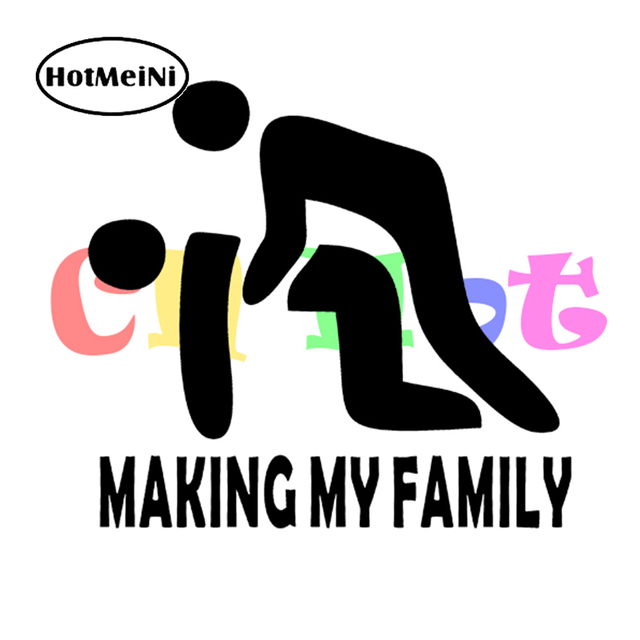 Hotmeini new making my family stick figure vinyl decals funny car truck suv windows bumper stickers