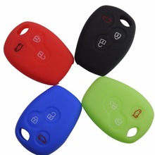 Remote 3 Buttons New Silicone Car Key Case Shell Cover fits For Renault Clio Trafic Master Kangoo