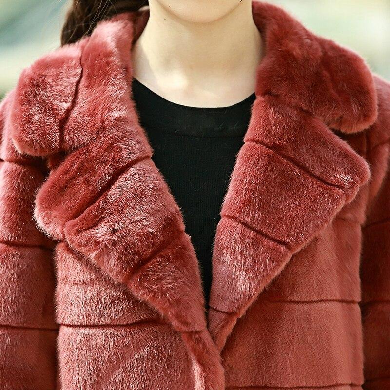 Nerazzurri χειμωνιάτικο παλτό γούνινο Faux - Γυναικείος ρουχισμός - Φωτογραφία 5