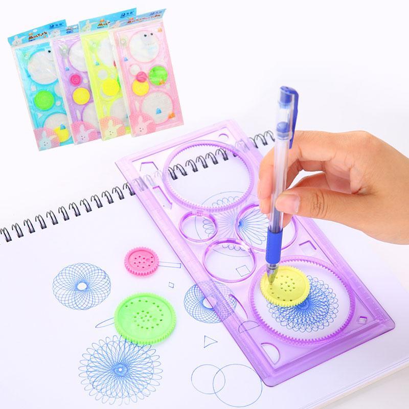 20CM Spirograph Drawing Toys Children Drawing Model Ruler Learning Art Sets For Children Drafting Tools