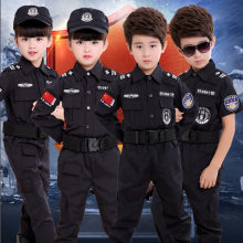 Kids Military Uniform Swat Police Men Halloween Fancy Cosplay Costumes for Children Boys Combat Jacket Teenagers Army Suit(China)