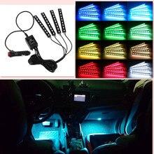 Araba tasarım LED şerit ışıkları atmosfer ışık aksesuarları için opel zafira b renault trafic golf mk4 audi a4 b5 megane 3 audi ...
