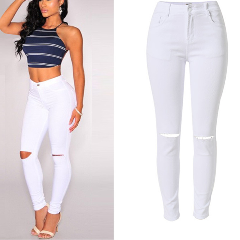 Online Get Cheap High Waisted White Jeans Stretch -Aliexpress.com ...