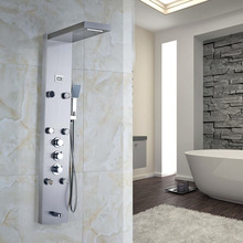 Nickel Gebürstet Fertig Wand Befestigter Badezimmer Dusche Wasserhahn Dusche Panel Mit Handsprüher