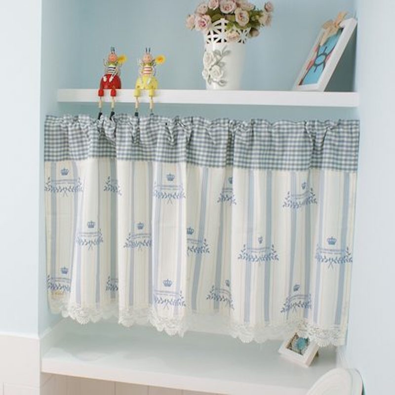 Kitchen Window Drawing: Rod Pocket Curtains Cafe Curtain Apron Draw Drape Window Dressing Covering For Kitchen Toilet