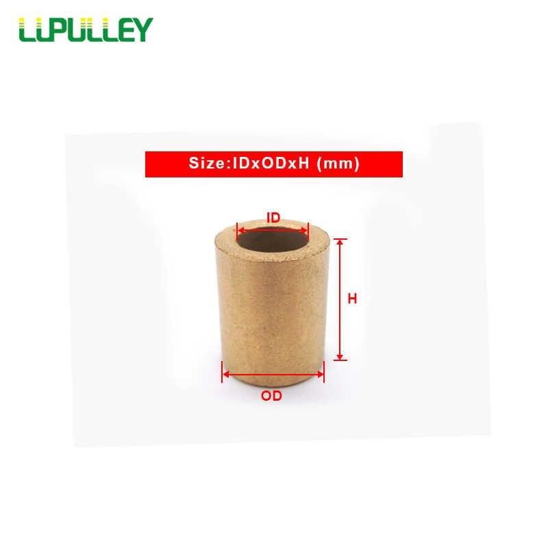 LUPULLEY 2 pz/lotto Olio Impregnato Bronzo Sinterizzato Boccola Del Manicotto di Rame Cuscinetto Metallurgia Delle Polveri Boccola 10x16x10mm /12x18x20mm