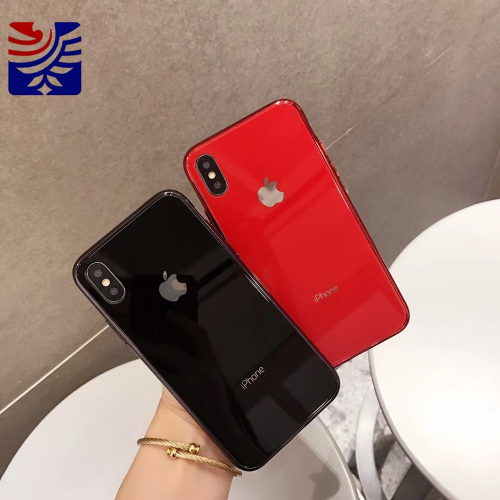 PEIPENG Luxury made of electroplated glass Anti-fall Phone Cases For iphone 6 6S 7 8 Plus X Xs Max Christmas gift Girl Simple and stylish14