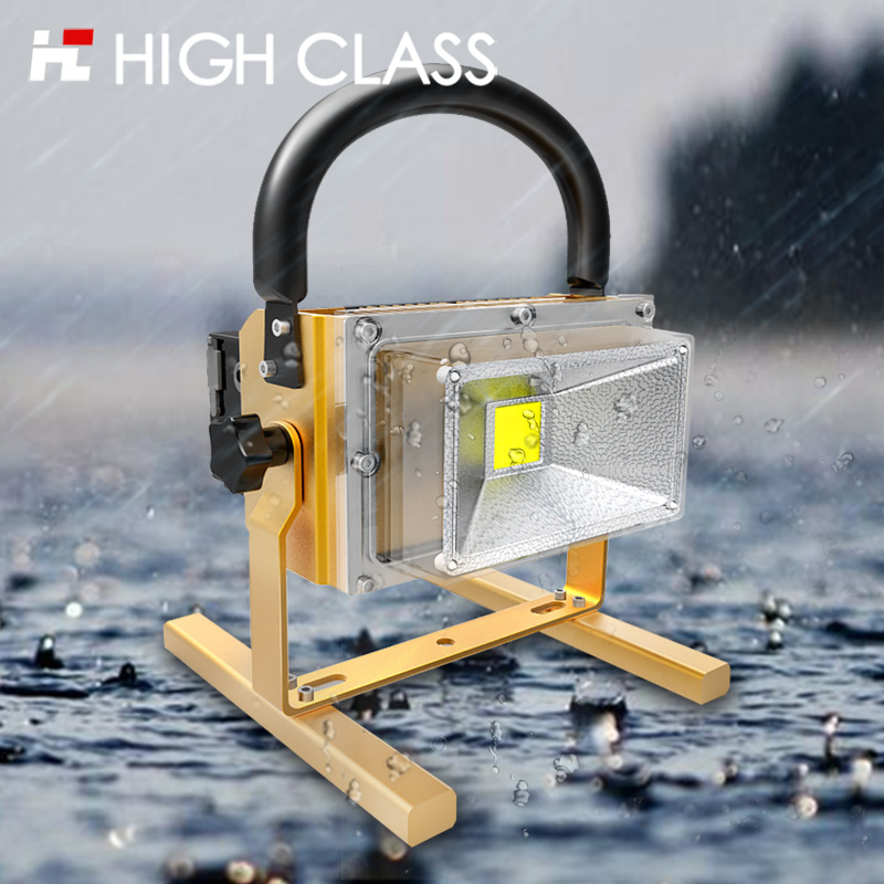 Portable Emergency IP65 Outdoor Waterproof Rechargeable 10W 20W 30W Dimmable LED Work Flood Light Auto Car Safe Flashlight ultrathin led flood light 200w ac85 265v waterproof ip65 floodlight spotlight outdoor lighting free shipping