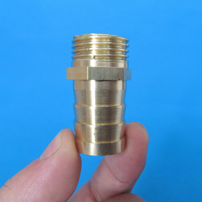 19mm Hose Barb Tail To 1 2 quot PT BSP Male Thread Straight Barbed Brass Connector Joint Copper Pipe Fitting in Pipe Fittings from Home Improvement
