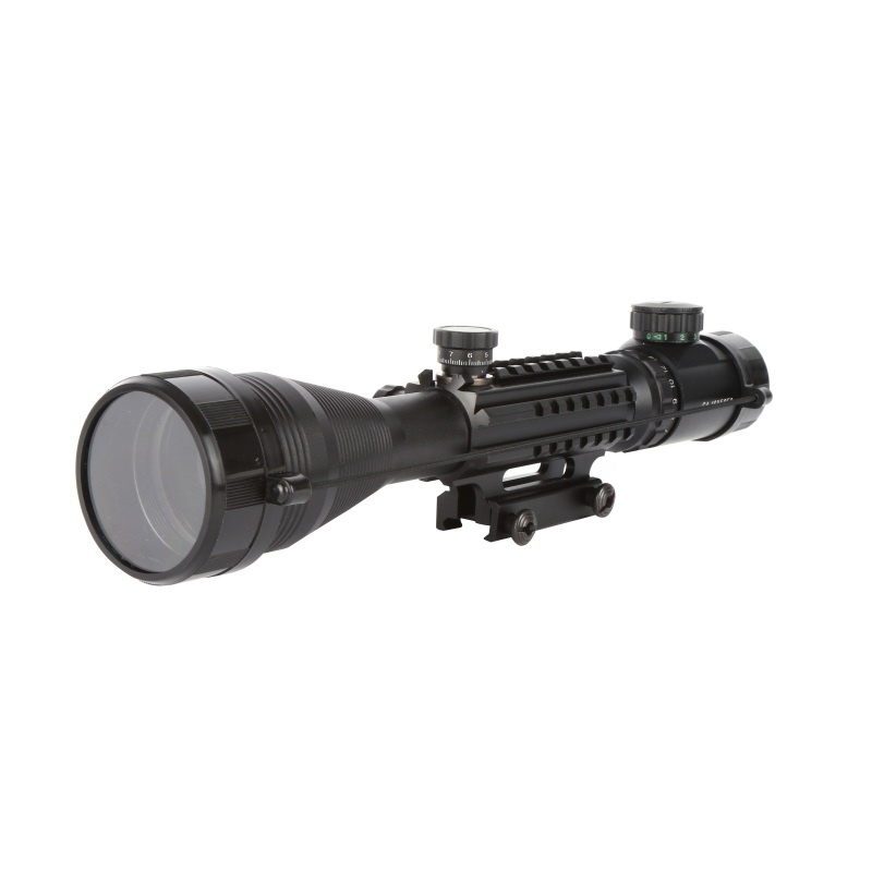Waterproof Anti-fog White Letter Marking Optics Riflescope Red And Green Reticle Fiber Optic Sight Sniper Hunting Scope