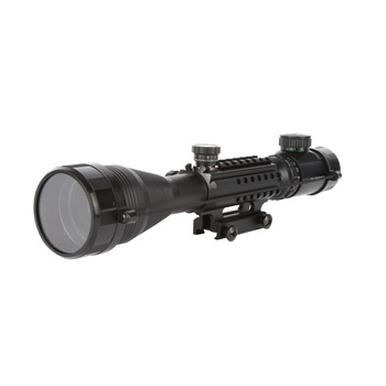 Waterproof anti-fog White Letter Marking Optics Riflescope Red And Green Reticle Fiber Optic Sight Sniper Hunting Scope