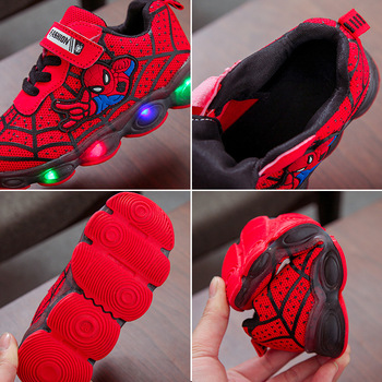 EU Size 21-36 Led Shoes Baby Girl Sneakers Boys Luminous Sneakers Glowing Lighted Shoes Cartoon Slippers Basket With Light
