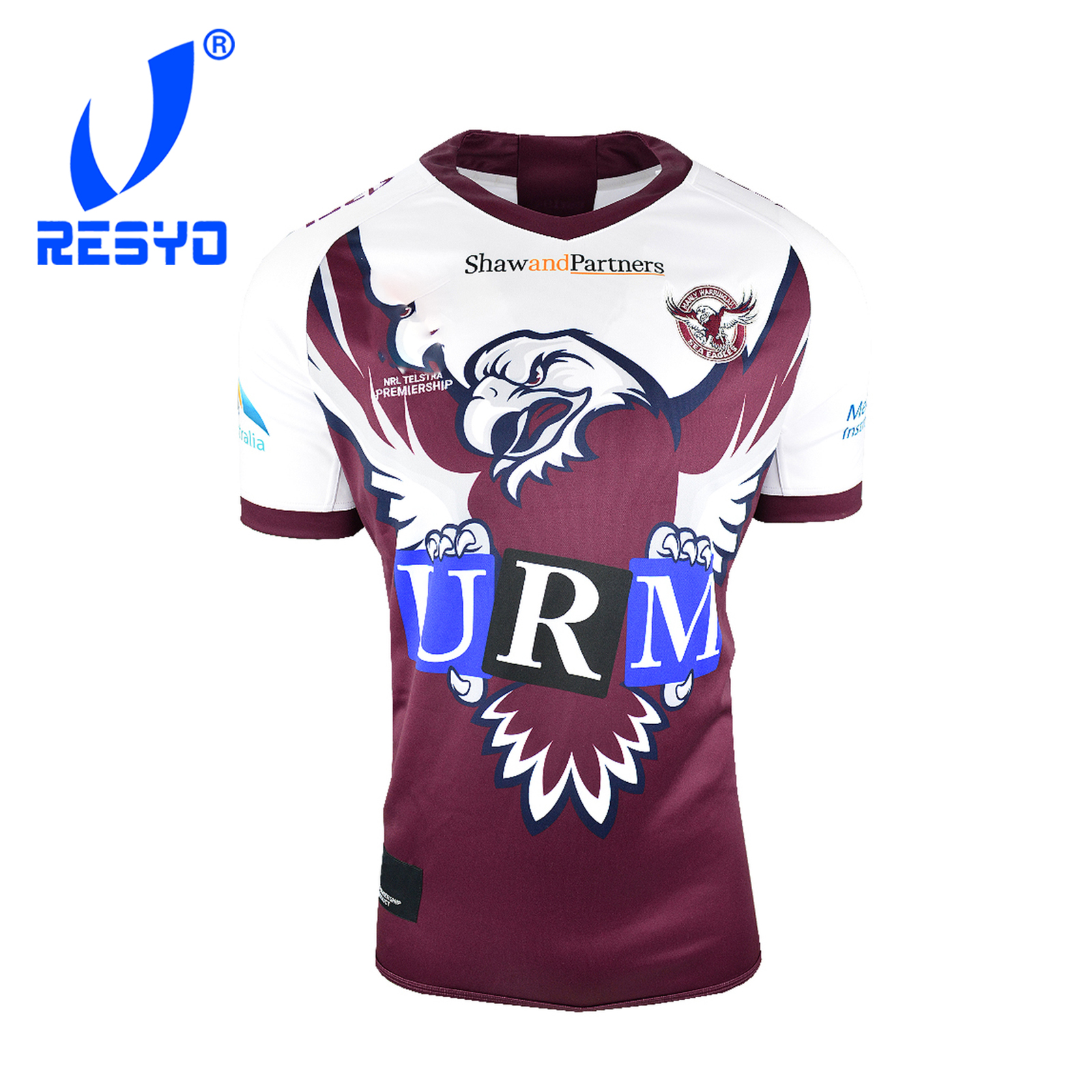 RESYO For Manly Warringah Sea Eagles 2019 Men's Replica Commemorative Jersey Rugby Sport Shirt Size:S-3XL Free Shipping