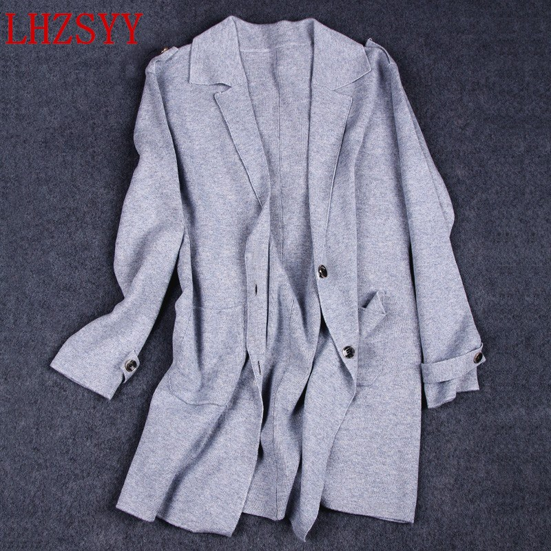 LHZSYY NEW Autumn and winter women s Cashmere Sweater Coat Loose Long section knitting Wool Cardigan