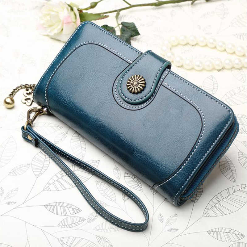 New Women Wallet Long Lady Zipper Purse Fashion Leather Clutch Money Bags Wallets for Phone Cash Passport Credit Card