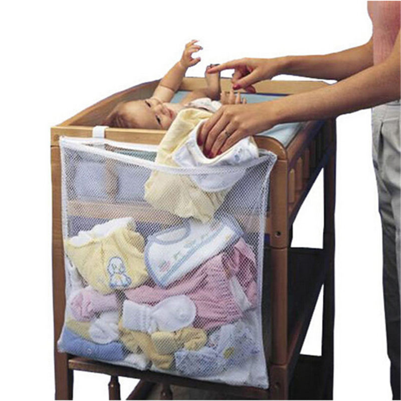 Visitable Baby Bedside Pouch Bag Bathroom Mesh Bath Toy Storage Bag Bed Hanging Storage Net Bag Organiser Containers
