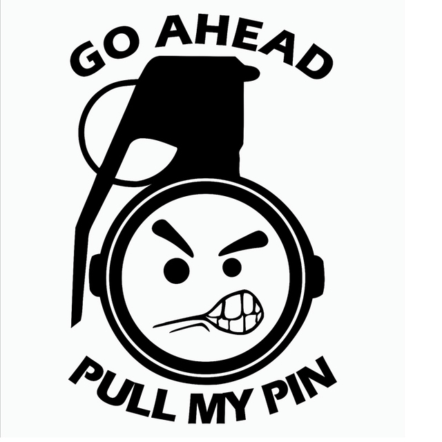 Funny pull my pin vinyl decal sticker angry face jdm 4x4 drift humour motorcycle exterior accessories