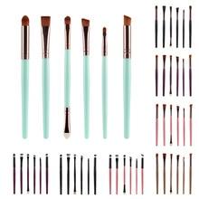 Professional 6Pcs/Sets Eye Shadow Foundation Eyebrow Lip Brush Makeup Brushes Comestic Tool Make Up Eye Brushes professional eye brush 6pcs