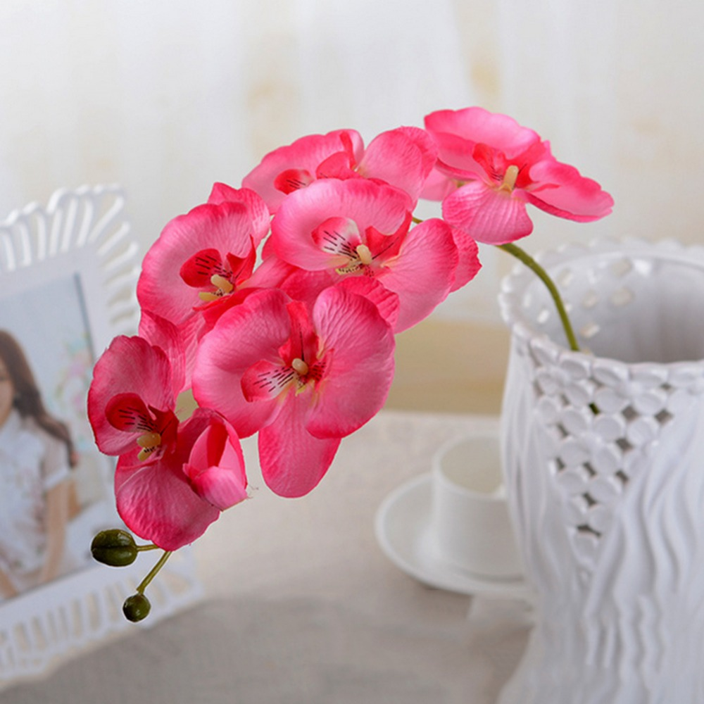 Artificial Flowers Orchid Diy Real Touch Artificial Butterfly Moth
