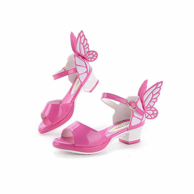 54d801906dd76 2016Girls sandals summer new Korean version of the small high-heeled shoes  children sandals princess shoes sweet fish head tide