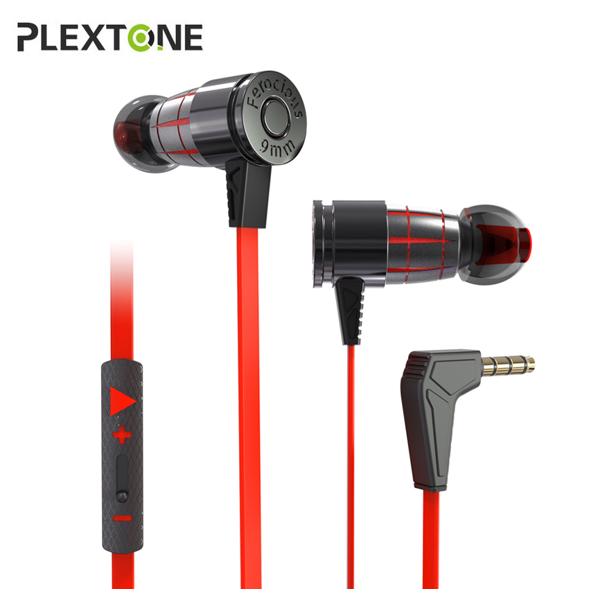Plextone G25 PC In Ear Gaming Headset with Mic Magnetic Bass Stereo Wired Sport Earbuds Earphones for Phone Computer Notebook image