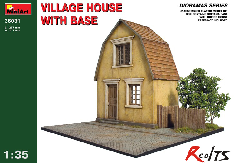 цена на RealTS Out of print product! VILLAGE HOUSE W/BASE DIORAMA BUILDING 1/35 MINIART 36031