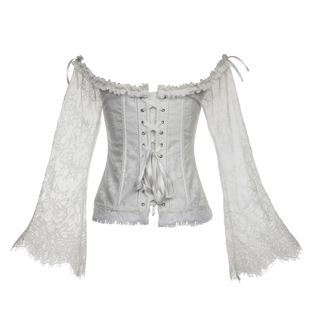 Lace-Top Corset Tights Court-Dress Party-Costume Victorian Medieval Retro Renaissance