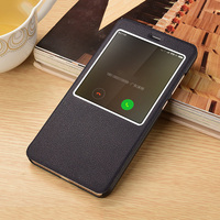 For Xiaomi Redmi Note 4X 4 X Case Leather Flip Cover Case Answer View Window Luxury