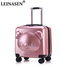 "New suitcase ABS+PC luggage set series 18"" 20"" inch trolley suitcase travel bag child luggage bag Rolling luggage with wheel(China)"