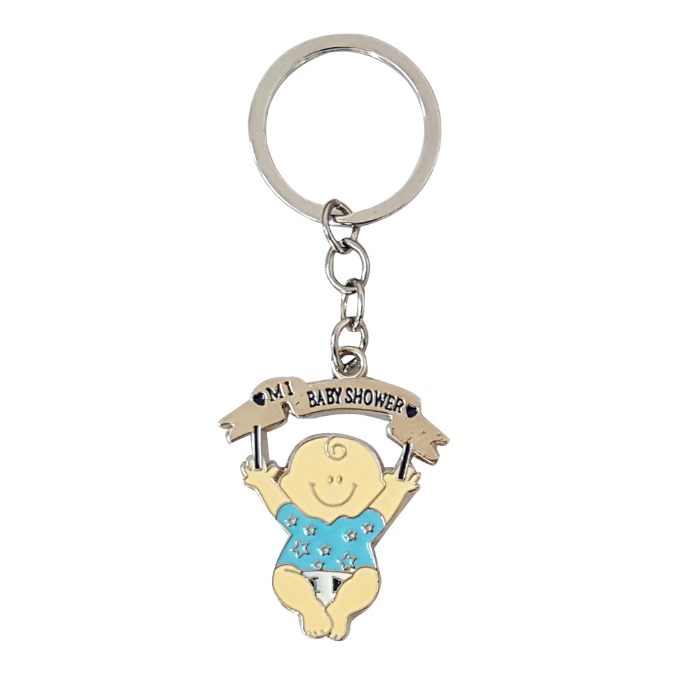 Enamel Floating Baby Girl And Boy Keychain Keyring The -1262