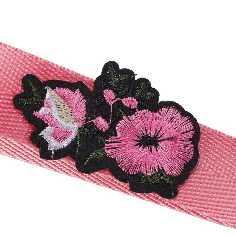 16cm Bag Strap Purse Shoulder Strap Handle Flower Embroidery Bag