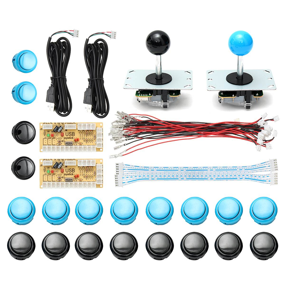 цена на Arcade Game Machine DIY Kits USB Encoder Controller PC Joystick With 20 Push Button + Joystick + Cable Arcade Joystick Kit
