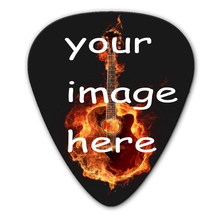 100pcs custom electric/acoustic guitar Picks plectrum Print your band logos guitar accessories(three shapes for you chose)(China)