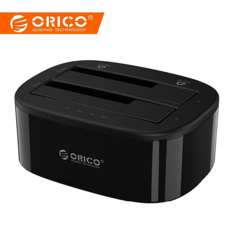 ORICO USB 3,0 для Корпус SATA HDD Dual-Bay жесткий диск Док-станция для 2,5/3,5 дюймовый HDD SSD с Оффлайн функция клонирования UASP