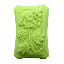 silicon gel soap making flower pattern mold Hand made silicone