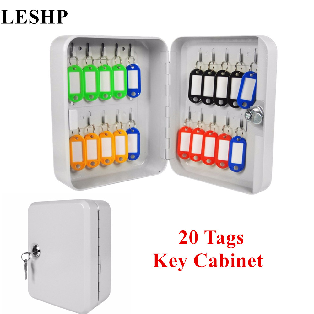 20 Tags Fobs Wall Mounted Lockable Security Metal Key Cabinet Box Safe Storage For Property Management Company Home Office practical key safe box lockable security metal key cabinet storage box safe 20 tags fobs wall mounted key security box wholesale