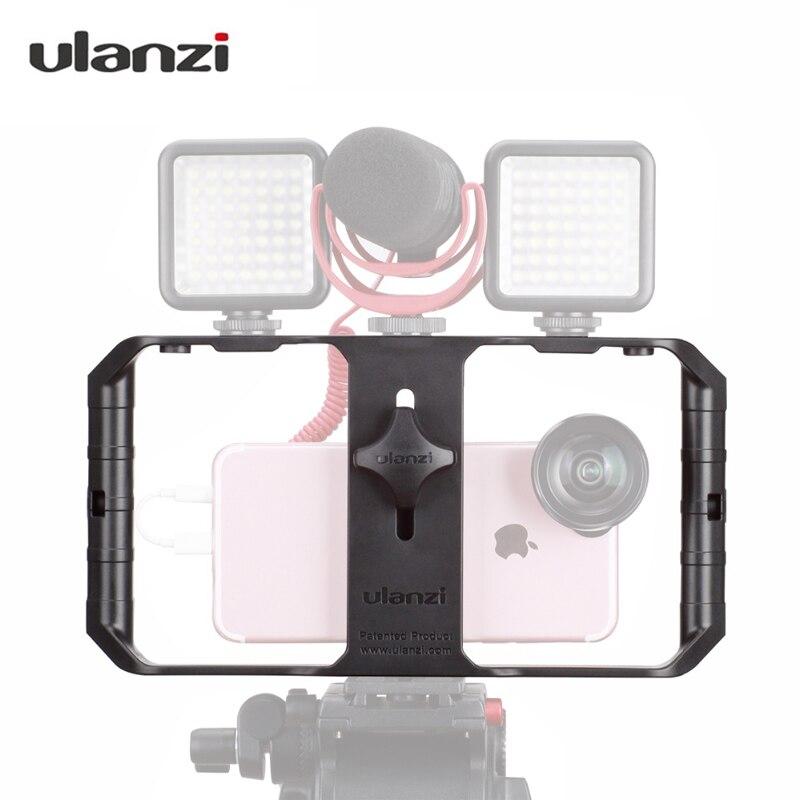 Ulanzi U-RIG про телефон видео стабилизатор Ручка штатив Стенд ручной смартфон видео Rig кинематографа чехол для <font><b>Iphone</b></font>