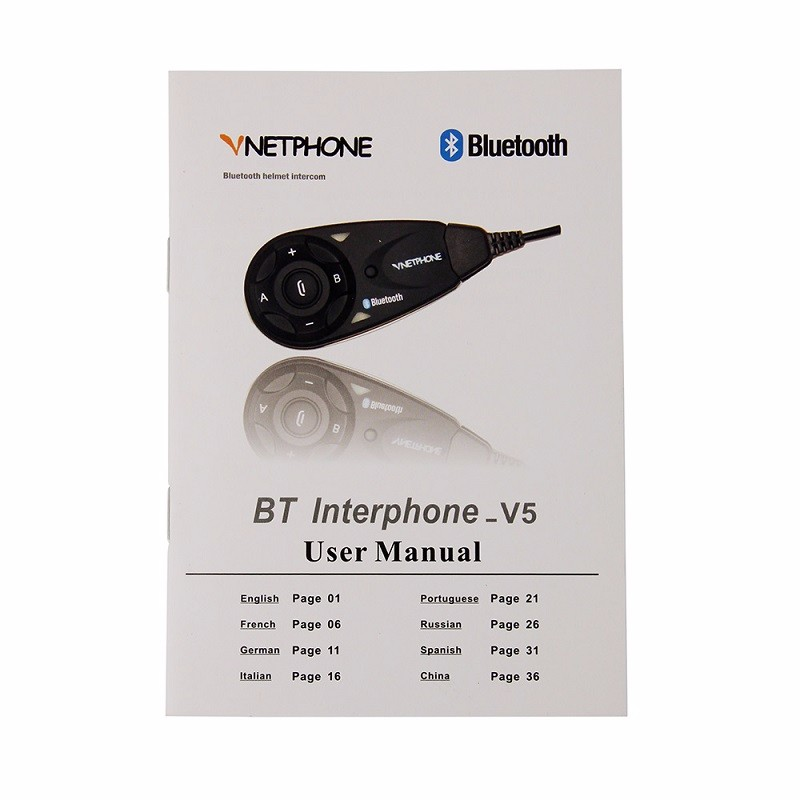 101 PSC V5-1000 BT Intercom Motorcycle Bluetooth Headset with FM Radio as Motorcycle Communications  helmet speaker  for 5 Riders