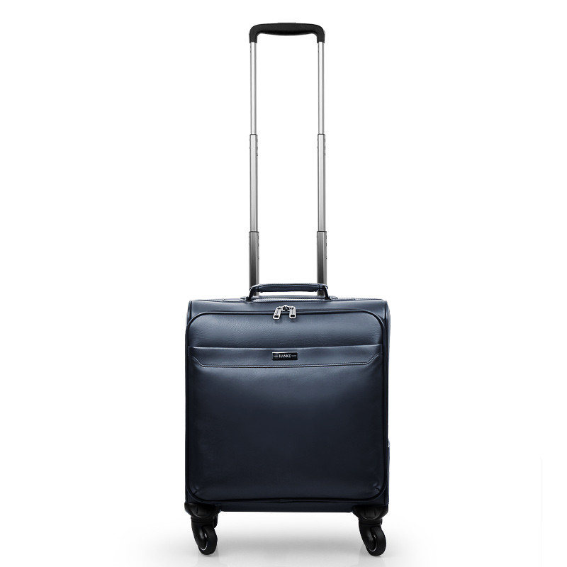 Wholesale!high quality genuine leather(cowhide leather) travel luggage on universal wheels,16inches retro travel luggage bags