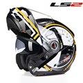 Original cabeza protectora casco de moto casco tirón encima Modular doble lente racing cascos LS2 FF370